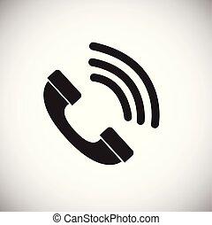 cliente, chiamata, bianco, fondo, per, app, o, web, usando