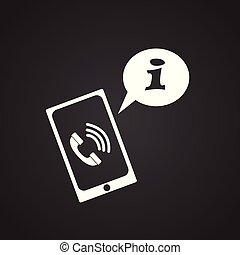 cliente, chiamata, su, sfondo nero, per, app, o, web, usando