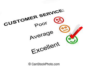 cliente, clasificación, servicio, excelente