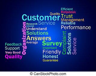 cliente, clientes, consumidores, medios, compradores, diagrama, o