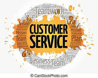 cliente, collage, parola, servizio, nuvola