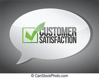 cliente, comunicación, apoyo, concepto, mensaje