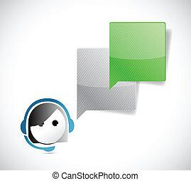 cliente, comunicazione, rappresentante, servizio