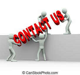 cliente, conceito, pessoas, apoio, -, nós, contato, 3d