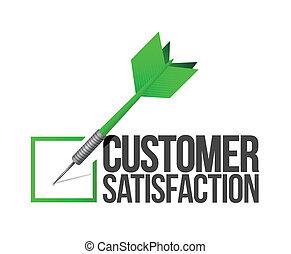 cliente, concetto, bersaglio, servizio, illustrazione, buono