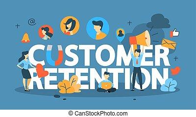 cliente, concetto, ritenzione