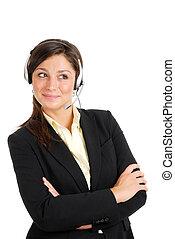 cliente, dall'aspetto, sostegno, lontano