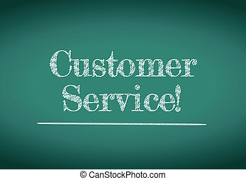cliente, disegno, servizio, illustrazione