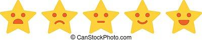 cliente, feedback., iconic, ilustração, de, satisfação, nível