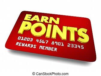 cliente, ganar, compras, lealtad, ilustración, puntos,...