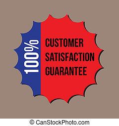 cliente, garanzia, formato, 100%, soddisfazione, vettore