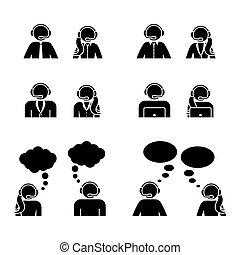 cliente, jogo, centro, figura, apoio, vara, ícone