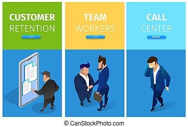 cliente, jogo, retenção, centro, trabalhadores, chamada, equipe
