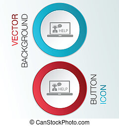 cliente, laptop, sostegno