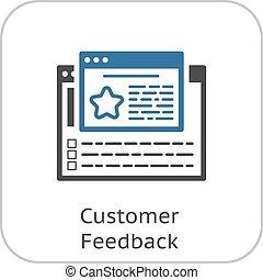cliente, linea, feedback, icon.