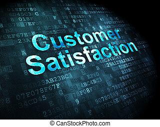 cliente, mercadotecnia, satisfacción, plano de fondo, digital, concept: