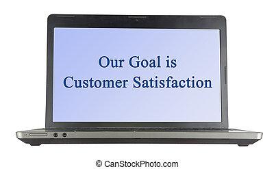 cliente, nuestro, meta, satisfacción