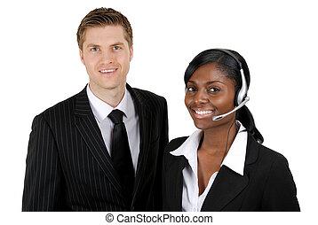 cliente, operador, apoio, equipe