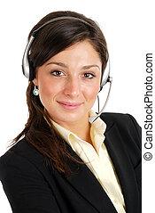 cliente, operador, apoio, negócio