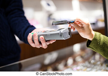 cliente, pagar, nfc, crédito, tecnologia, cartão