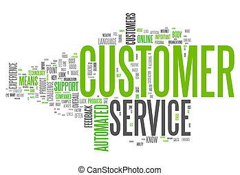 cliente, palabra, nube, servicio