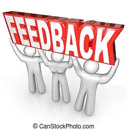 cliente, parola, feedback, servizio, persone, sostegno, ...
