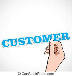 cliente, parola, mano