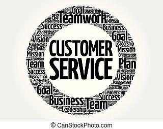 cliente, parola, servizio, nuvola