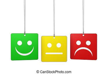 cliente, qualidade, realimentação, serviço, etiquetas