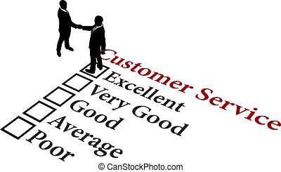 cliente, rapporto affari, servizio, eccellente
