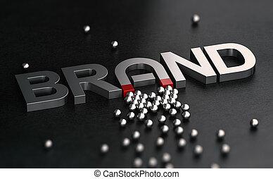 cliente, relazione, marca, attractiveness., consapevolezza, costruzione.
