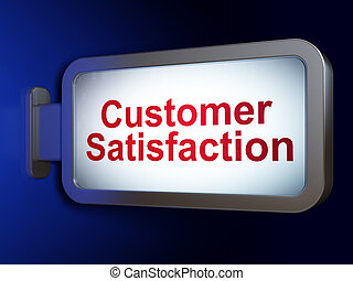 cliente, render, soddisfazione, fondo, pubblicità, tabellone, concept:, 3d