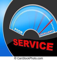 cliente, representa, servicio, perfección, surpass,...