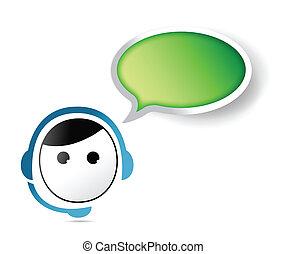 cliente, representative., contatto, servizio, ci