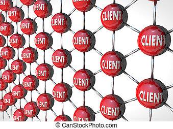 cliente, rete, 3d, render