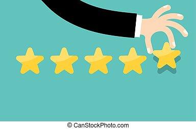 cliente, revisioni, concept., valutazione, classificazione