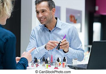cliente, scegliere, e-cigarette