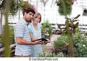 cliente, tableta, digital
