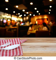 cliente, tovaglia, ristorante