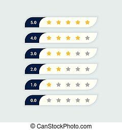 cliente, valutazione, simbolo, stella, feedback