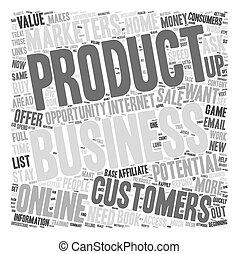clienti, concetto, affari, ottenere, testo, come, wordcloud, potenziale, fondo, lei
