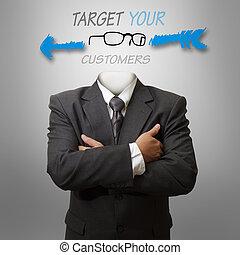 clients, cible, concep, ton
