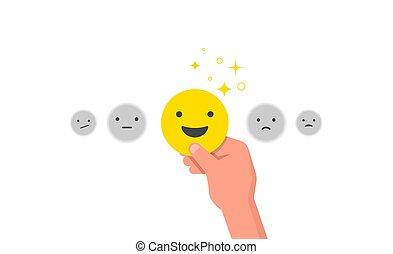 clients, concept, satisfaction, conception, client, heureux