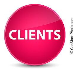 Clients elegant pink round button