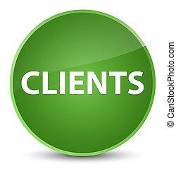 Clients elegant soft green round button