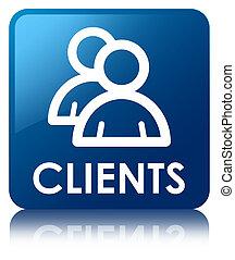 Clients (group icon) blue square button