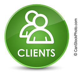 Clients (group icon) elegant soft green round button