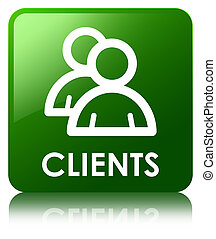 Clients (group icon) green square button