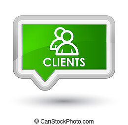 Clients (group icon) prime green banner button