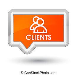 Clients (group icon) prime orange banner button